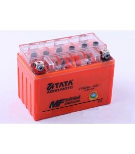 Аккумулятор 9Аh-YTX9-BS OUTDO (гелевый, оранж. С ИНДИКАТОРОМ) 150*85*105mm